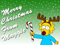Maggie Simpson Christmas Wallpaper