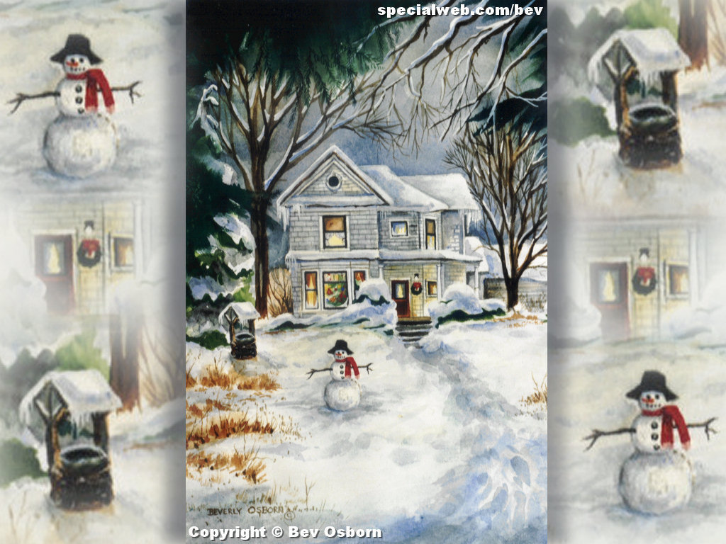christmas scenes for wallpaper on computer