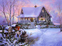 Christmas Scene Wallpaper