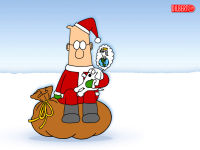 Santa Dilbert Christmas Wallpaper