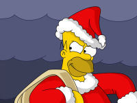 Santa Homer Simpson Christmas Wallpaper