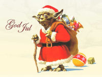 Santa Yoda Christmas Wallpaper